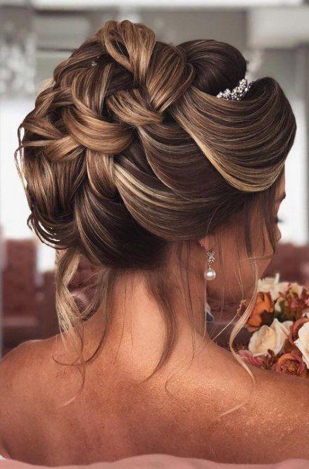 Hairstyles Elegant Curls Hairdos 53 Ideas Hairstyles New Site Coiffure De Mariage Chignon Coiffure Mariee Chignon Haut Mariage