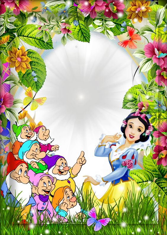 Snow White And The Seven Dwarfs Kids Transparent Frame Disney Frames Boarders And Frames Snow White