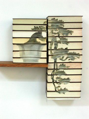 Amazing carved book art