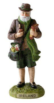 Pipka Santa 14023 5-3/8quot; Ireland. #SantaClaus #Santa #Claus #Christmas  #Figurine #Decor #Gift #gosstudio .★ We recommend Gift Shop: http://www.zazzle.com/vintagestylestudio ★