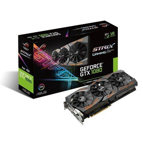 Asus Geforce Gtx 1080 8gb Rog Strix Oc Edition Graphic Card Strix Gtx1080 O8g Gaming Asus Rog Video Card Computer Accessories
