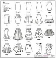 skirt silhouette types - Google Search