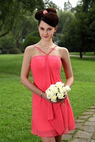 Satin Rosa A-Line Graduierung Kleider kv0819 - Silhouette: A-Line; Stoff: Satin, Verzierungen: Rüschen, Volants, Länge: Kurz - Price: 132.7100 - Link: http://www.kleiderverkaufen.de/satin-rosa-a-line-graduierung-kleider-kv0819.html