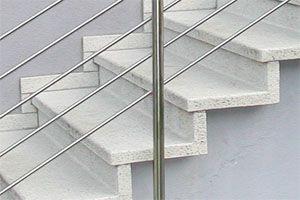Schall verschiebbare Winkelstufen, Stufensysteme und Betonwaren