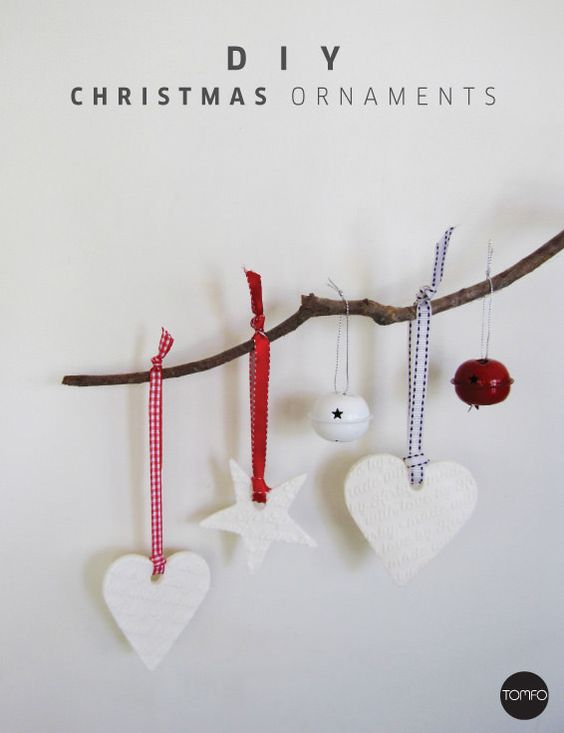 Diy Christmas Ornaments Baking Soda : How to make white clay christmas ornaments with just