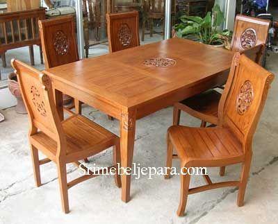 Set meja minimalis sangat cantik dan elegan untuk rumah anda .