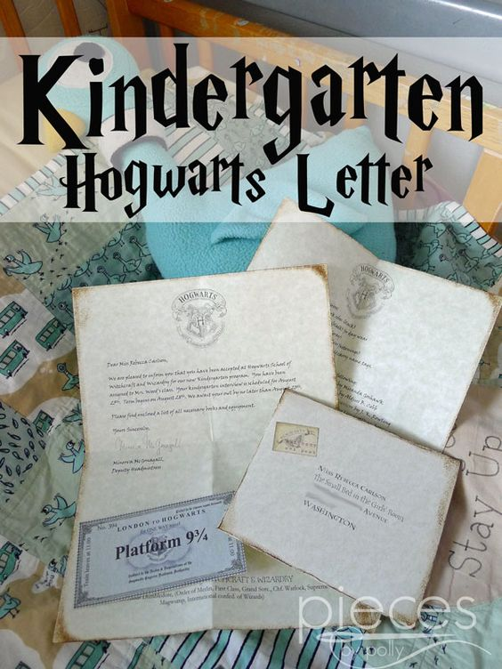 Hogwarts Letter - Kindergarten Edition - Harry Potter Inspired - Pieces by Polly