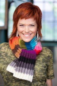 Crochet pattern with ribbed knit look