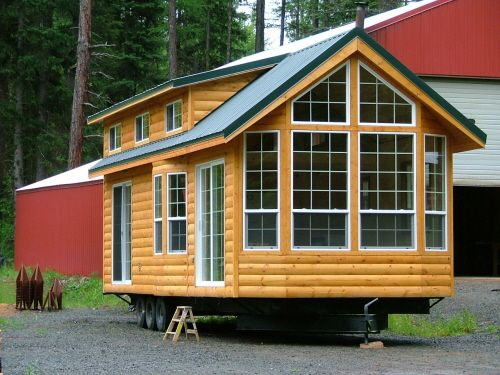 Charming Classic Double Loft Log Exterior. Richu0027s Portable Cabins, North Powder, Ore  | Micro Cabins | Pinterest | Portable Cabins, Cabin And Lofts
