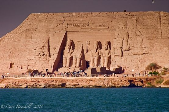 Egypt not only has the Pyramids of Giza, check out Abu Simbel on Lake Nassar