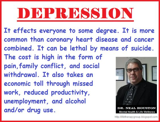DEPRESSION ~ Dr. Neal Houston, Sociologist (Mental Health  Life Wellness) EDUCATION  AWARENESS http://www.facebook.com/TheLifeTherapyGroup