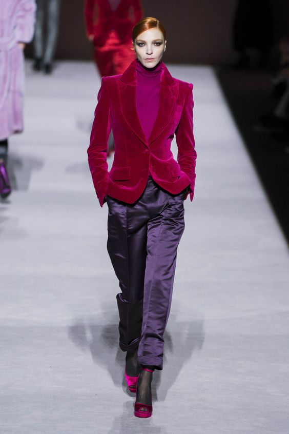 Tom Ford Fall Winter 2019 trends Runway coverage Ready To Wear Vogue Dual colors