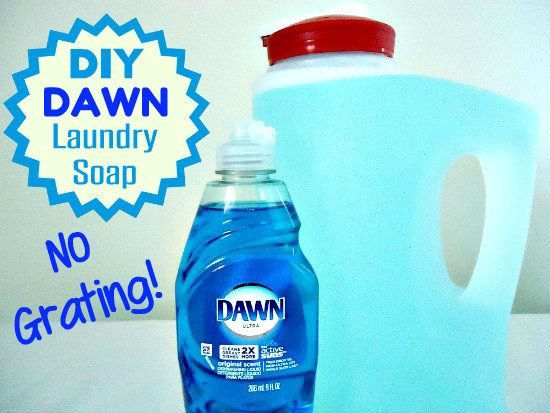 Homemade Laundry Soap Made With Dawn Dish Soap Homemade