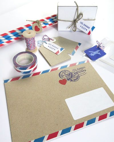 Air Mail Letter Set Un Punto De Estilo Pinterest