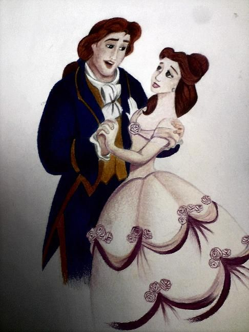 Colored pencil3 Beauty and the Beast
