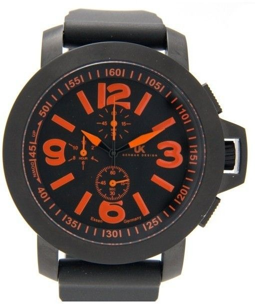 Special Offers Available Click Image Above: Uhr-kraft Mens Helicop 2 Stainless Watch - Black Leather Strap - Black Dial - Uhr23603/6