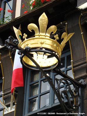 """""""La couronne"""", la plus vieille auberge de France, place du Vieux Marché, Rouen."""