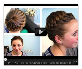 Fantastic Updo Crown Braids And Hairstyles For Girls On Pinterest Short Hairstyles Gunalazisus