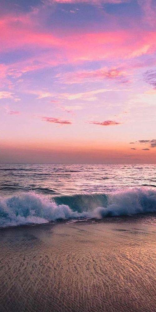 Sunsetpink In 2020 Sunset Wallpaper Sky Aesthetic Beach Wallpaper