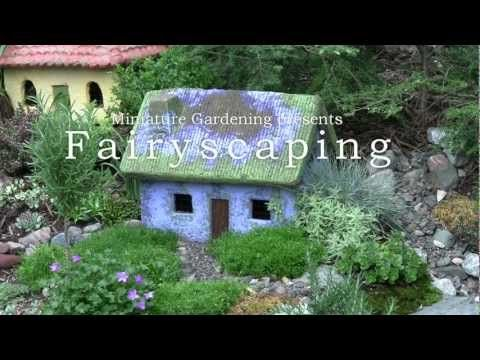 Fairyscaping - An Outdoor Fairy Cottage Garden  - this video links to a great online resource for miniature accessories & beautiful things to add to your wee garden.