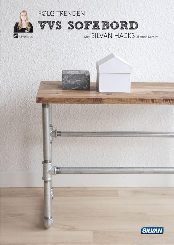 Følg trenden og byg dit eget vvs sofabord   med silvan hacks af ...