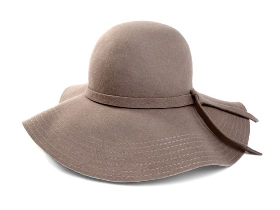 Felt Floppy Wide Brim Hat.