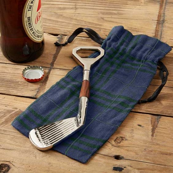 Golf Club Bottle Opener with Gift Pouch
