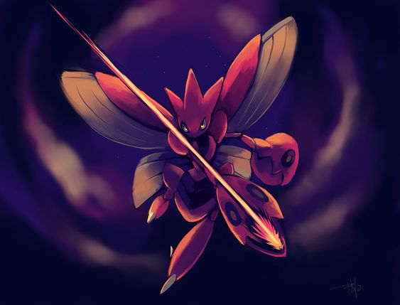 Scizor used Night Slash by purplekecleon