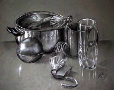 Image result for drawing of metal and glass