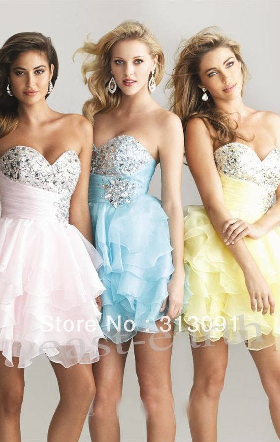 STOCK Mini/Short Cocktail Prom Party Ball Evening Dress Size4-6-8-10-12-14-16