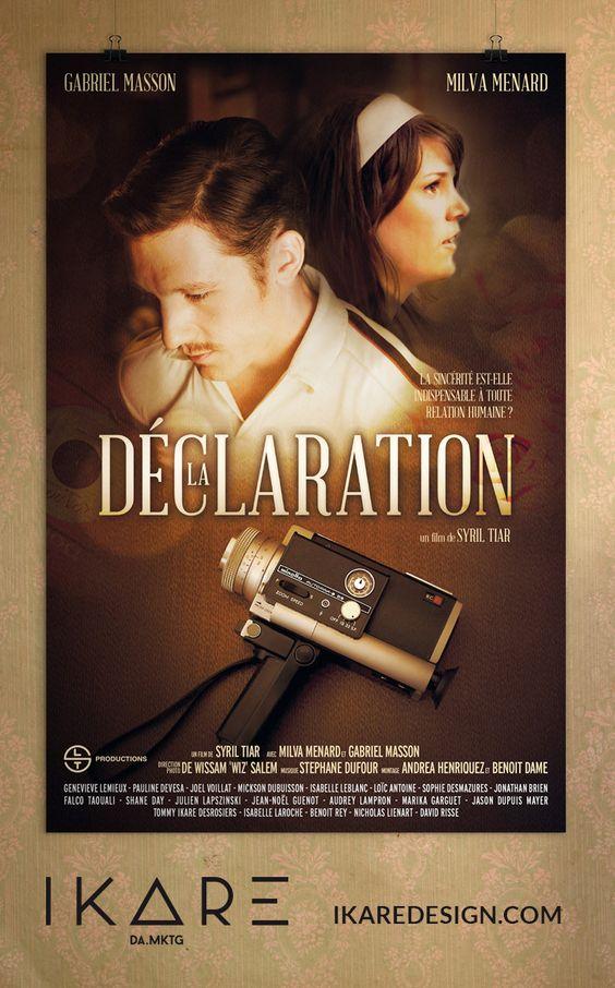 """Affiche du court-métrage """"La Déclaration"""" de Syril Tiar par IKARE DA.MKTG"""
