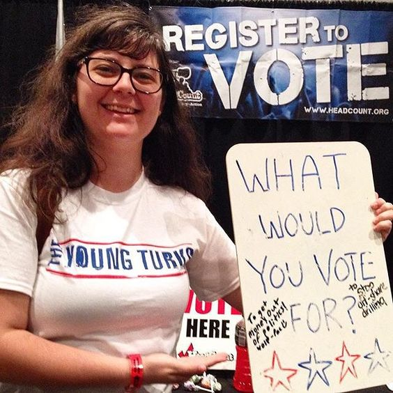 Updated my voter info with @headcountorg and let it be known that I would vote to get money out of politics. Representing Wolf-PAC! #Politicon #wolfpac #wolfdashpacdotcom #TheYoungTurks #TYTArmy #HeadCount : @tarasmedley