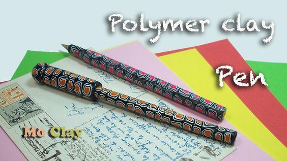 How-to make easy Polymer Clay pen - Bolígrafo en arcilla polimérica - Penna decorata con Fimo