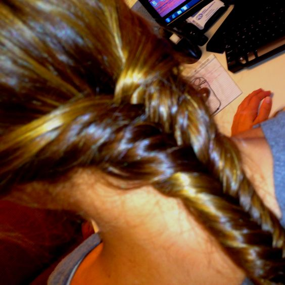 Finally mastered the fish tail braid!