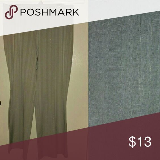 Pants Silver pants great for work or a party  3%Lycra 60% poly 37% Rayon Unknown Pants Wide Leg