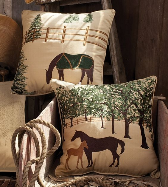All Weather Equestrian Pillows. The outdoor/indoor  equestrian pillow collection…: