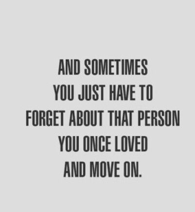 That person you once loved
