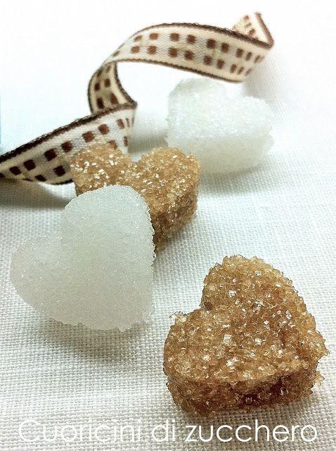I dolci nella mente: Cuoricini di zucchero per un regalo goloso...