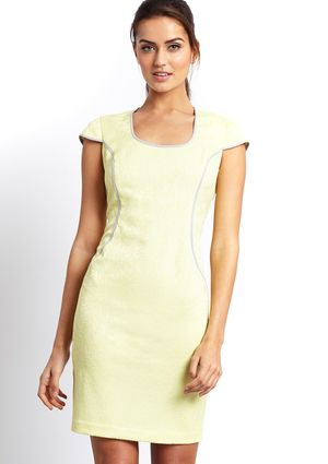 On ideeli: MARC NEW YORK Cap Sleeve Shift Dress with Side Piping Detail