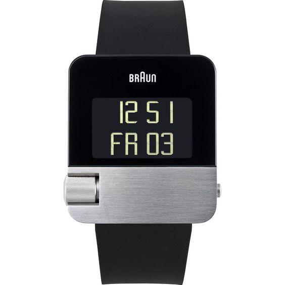 Braun BN0106 Silver Prestige Digital Men's Watch | Rubber