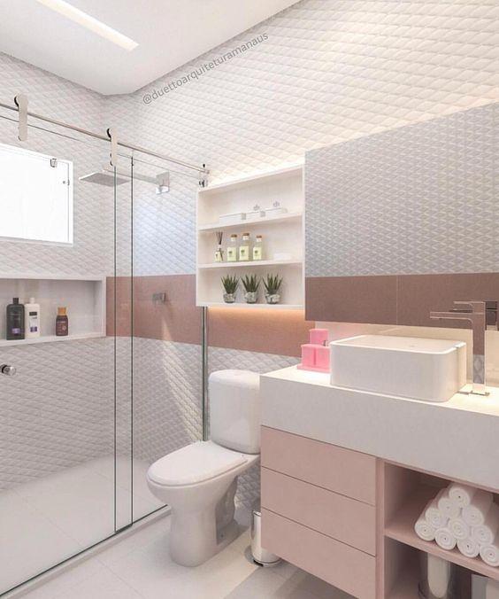 A delicadeza em banheiro 🚽💗 assinado por Duetto Arquitetura Manaus. #dicadalores #QGdalores || Follow @arqtiva