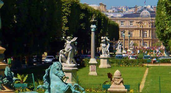 Gardens of Musee de Luxembourg Paris.