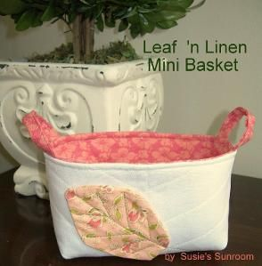 Leaf 'n Linen Mini Basket