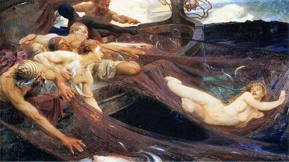 """Herbert James Draper, """"The Sea Maiden"""""""