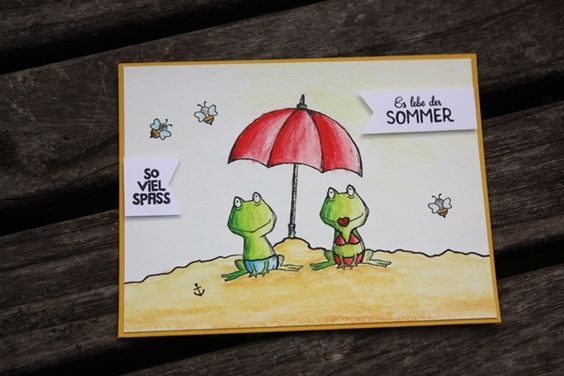 Zauberhaft-handgemacht, Sommerpost, Love you lots, SU Katalog 2016/17, Aquarell