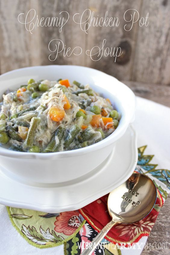 Creamy Chicken Pot Pie Soup, so good you won't even miss the crust | Vibrant Life Army Wife #paleo #glutenfree