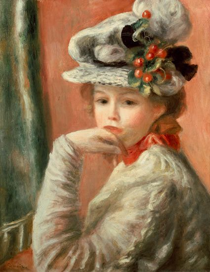 Pierre-Auguste Renoir - Young Girl in a White Hat