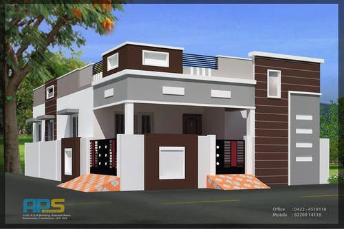 barna, szürke sötét és világosabb árnyalata és fehér párosítása családi házon
