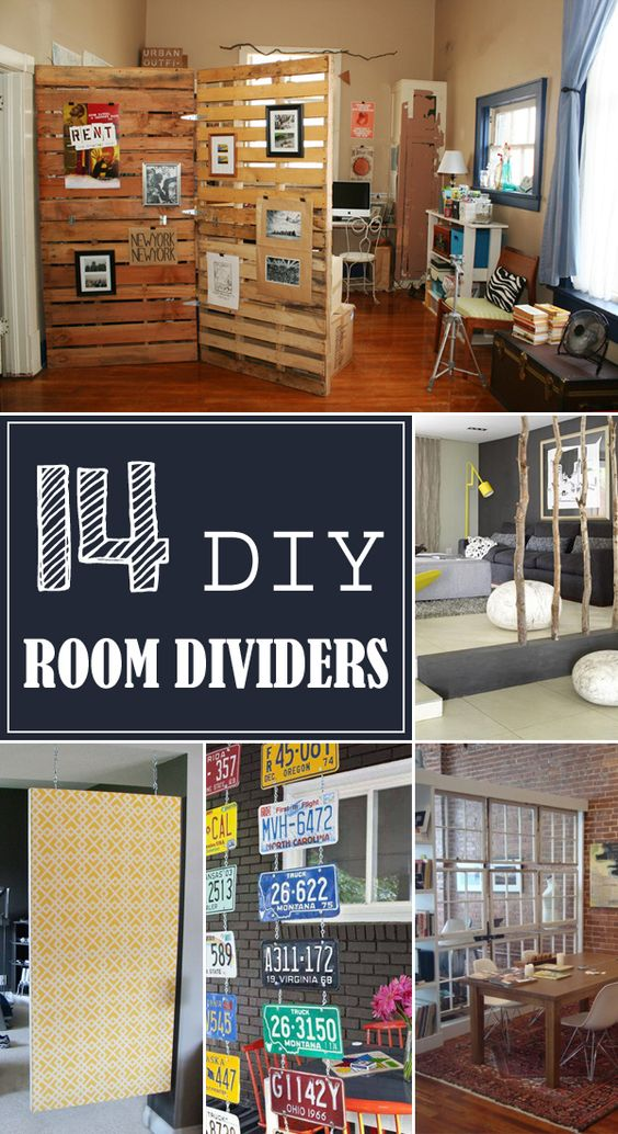 15 Creative Ideas For Room Dividers: 14 DIY Creative Room Divider Ideas →