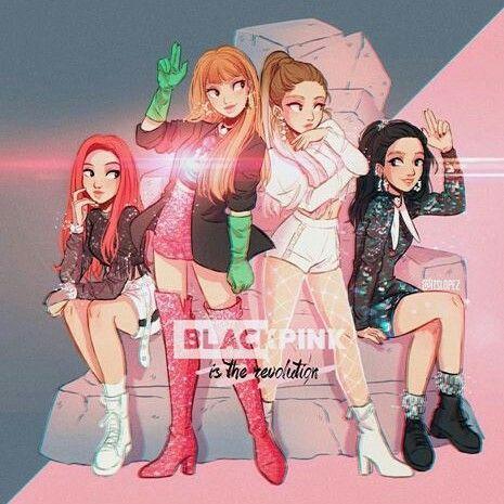 Black Pink Fan Art Black Pink Kpop Itslopez Black Pink Blackpink anime wallpaper hd